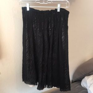 Zara Women's black lace detail skirt. Size Small